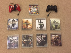 PS3 - GTA5 & Call of Duty    9 games & 2 wireless controllers