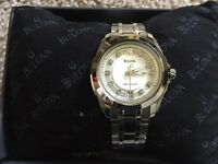 Brand new never worn ladies Bulova precisionist diamond watch