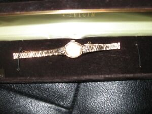 Vintage Elgin Watch with 4 Diamonds for sale