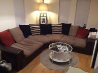 Huge SCS leather/fabric corner sofa