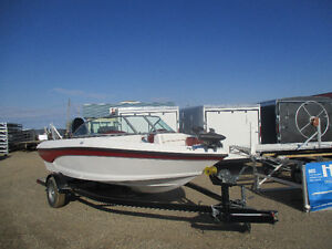 New non current Rinker boat fish ski with trailer .