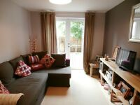 Short Term Let - One bedroom flat on Dryden Gait with parking and private patio