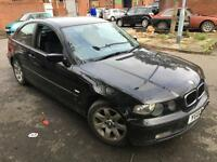 BMW 320 2.0TD SE Compact 2003 BREAKING FOR SPARE PARTS DAMAGED