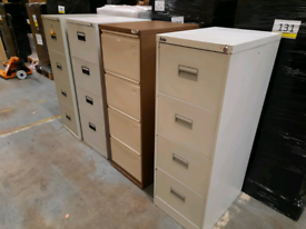Metal filing cabinet 4 drawer - 4 available