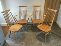 Ercol 1960 Goldsmith Dining Chairs x4 *Local delivery available*