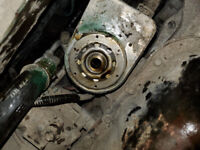Removal of mangled oil filter