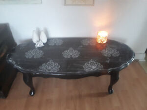 Coffee table - Black and grey