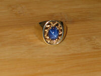 PRICE REDUCED: 10k gold star sapphire ring, size 8
