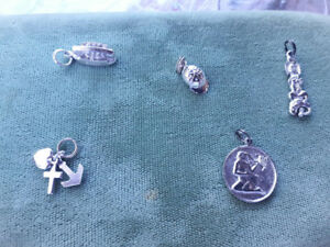 5 Sterling silver charms pendants