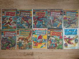 Captain Britain comics including issue 1.