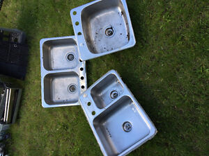 3 stainless steel sinks $40 and $60 each