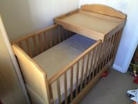 Cot Bed inc Changing Station