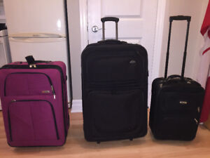 Samsonite baggage and Delsey carry on suitcase luggage