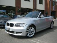 2008 08-Reg BMW 118i ES Convertible,BRILLIANT SILVER,CHEAPEST 1 SERIES CAB!!!!!!
