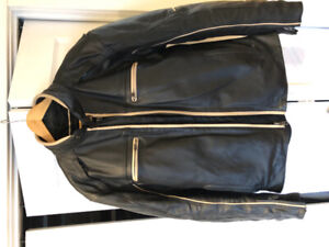 Triumph motorcycle leather jacket original with liner, Sold bike