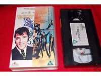 Collection of 6 Elvis Presley VHS Videos + 1 x NTSC .