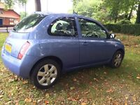 Nissan micra 2004 1.2 petrol manual new mot 2 key