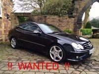 Wanted Mercedes CLK 320 CDI Sport 7G Paddleshift Auto. FSH