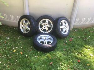 4 pneus d'hivers sur Mag