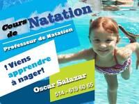 Cours de natation privé à Montréal