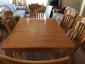 Large country style dining table set