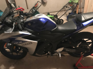 2016 Yamaha YZFR3F for $3000 OBO. Price is flexible.