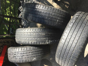 Four Continental Tires 225 65 R17 in good condition