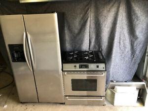 3 piece kitchen appliances set 26.5cuft fridge freezer stove