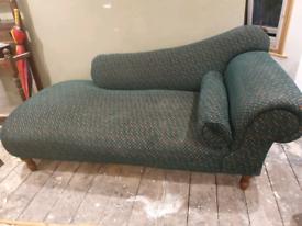 Chaise Longue Green patchwork design sofa