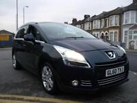 Peugeot 5008 2.0HDi 2010 / 10 163bhp FAP auto Exclusive SAT NAV FULL LEATHER