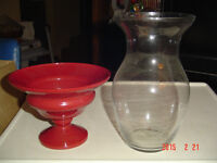 HOUR GLASS SHAPED VASES FOR FLOWERS OR COLOURFUL FIGHTING FISH
