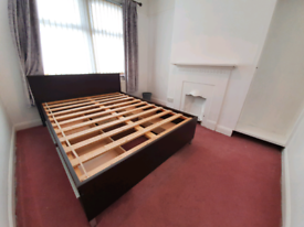 Double Bed Frame with 4 Drawer Storage