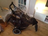 Phil and teds double buggy pram pushchair