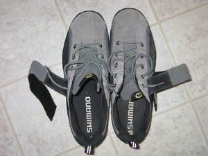 Shimano men's size 10 clip less shoes and pedals for sale Prince George British Columbia image 1