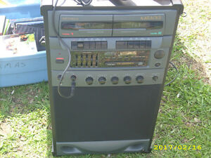 Karaoke machine with MIC., CD and DUAL TAPE DECK.