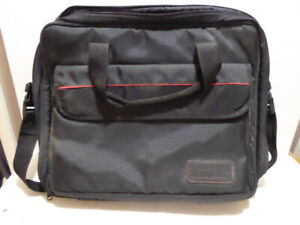 BLACK CANVAS OVERNIGHT SUITCASE OR USE AS A LAPTOP CASE