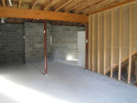 Unfinished basement for storage
