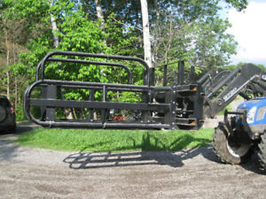 grapple squeeze hay attachment