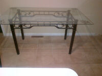 Bronze metal table frame for glass or artisan table top