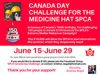 Canada Day Challenge for the Medicine Hat SPCA