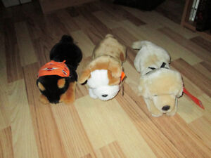 THREE COLLECTABLE HARLEY DAVIDSON DOGS