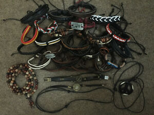 Leather Bracelets (and a couple necklaces) - Everything for $10.