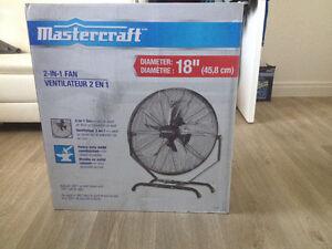 """Ventilateur/fan mastercraft 18"""""""