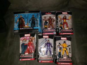 Marvel legends figures.