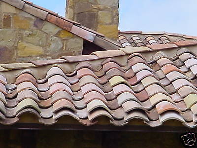 French Antique Clay Roman Roof Tiles Circa 1820 South Of France 10000 Tiles