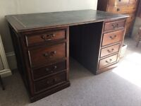 Old large desk with deep drawers