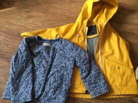 Zara rain coat & next jacket