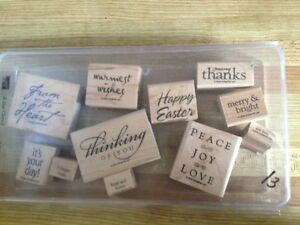 Stampin up big wooden set