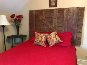 Queen and king size headboards (8)  from antique and barn doors