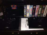 Rare Neo Geo Gold gaming system + 8 Games